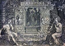 SYLVAE SACRAE ORACULUM ANACHORETICUM. JACQUES HONERVOGT. IOLLAIN.PARIS. 1654-56
