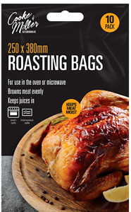 10x Large Roasting Bags 250mm x 380mm Oven & Microwave Safe for Juicy Meat Chick