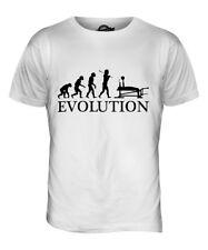 BENCH PRESS EVOLUTION OF MAN MENS T-SHIRT TEE TOP GIFT CLOTHING