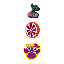 Novelty Iron Patches Set (3Pcs) Lux Accessories Cherry, Orange and Owl