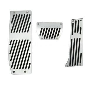 Aluminum Footrest Rest Pedals Pad Set For BMW E30 E36 E46 E87 E90-E93