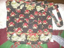 "Vera Bradley ""Retired"" Hens & Holly Christmas Holiday Tote Purse Handbag"