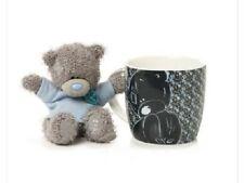 Me to You Tatty Teddy. Grey Bear and Mug Gift Set, Blue.
