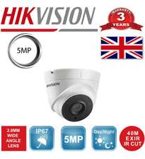 HIKVISION CCTV SYSTEM 5MP DS-2CE56H0T-IT3F TURRET CAMERA 40M IR IP67 UHD 4K 100%