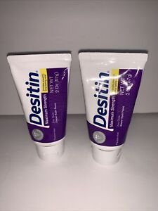 Desitin Maximum Strength Diaper Rash Treatment 2 oz. Cream Zinc Oxide ( 2 PACKS)
