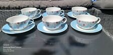 Laura Ashley 6 Cup's And Saucers.