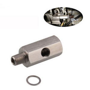 1/8'' NPT Oil Pressure Sensor Tee to NPT Adapter Turbo Supply Feed Line Meter