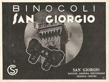 W2891 Binocoli San Giorgio - Genova Sestri - Pubblicità del 1937 - Old advert