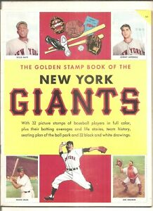 1955 Golden Stamp Book of the New York Giants
