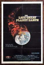THE LATE GREAT PLANET EARTH 1979 Bible Prophecy End Times ORIGINAL MOVIE POSTER
