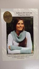 Knitting Pattern #1524 to Knit Cowl & Fingerless Gloves in Alpaca DK Yarn