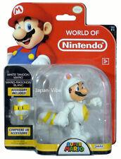 "World Of Nintendo White Tanooki Mario 4"" Action Figure Jakks Pacific Super Moc"