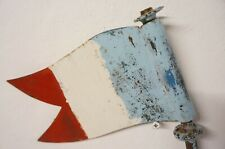 Vintage FRENCH Metal FLAG Tricolour Sign Cafe Restaurant Decor Handmade Painted