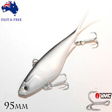 Mullet 95mm Transam Soft Plastics Fishing Lures Vibes Blade Jack Barra Bream VMC