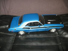 HIGHWAY 61 1:18 DODGE CHALLENGER TA 1970 RARE CAR RARE B-5 BLUE CAR EX CABELS