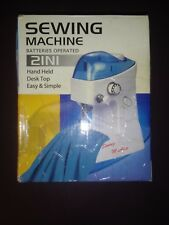 Sewing Machine - 2 In 1 Battery Operated - Hand Held - Desk Top - Easy & Simple