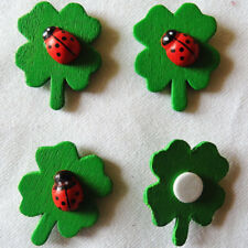 Clover Ladybugs Easter Wood Sponge Stickers Spring Party Wall Fridge Decorations
