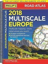 Philip's multi-échelle de l'europe 2018: (A4 reliure spirale) (philips road atlas),   sp