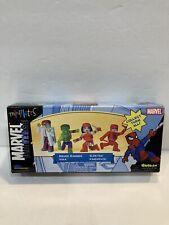Marvel Universe MiniMates Hulk, Bruce Banner, Dardevil, Elektra, (Exclusive)