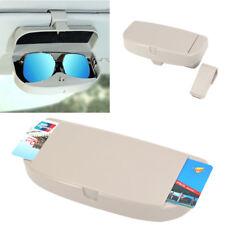 Auto Sonnenblende Gläser Box Sonnenbrille Aufbewahrungsbox + Karteneinleger Grau