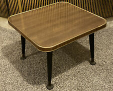 Small Square Vintage Mid Century Side Table / Plant Stand with Formica Top