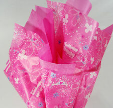 Disney Princess gift wrap tissue paper birthday party girl pink castle flowers