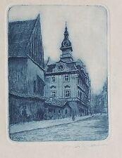 Bohumil Kozina, Radierung um 1910, handsigniert (1385)