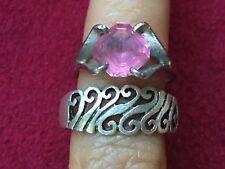 Two Beautiful Vintage Pink Swirl Toe-rings 925 Sterling Silver *Adjustable* K103