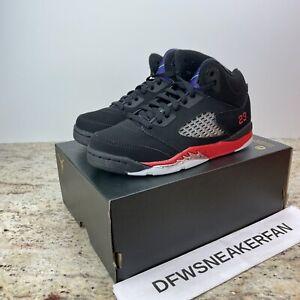 "Nike Air Jordan 5 Retro ""Top 3"" Kids Size 13c Black Fire Red (PS) CZ2990-001 New"