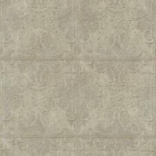 Wallpaper Old Fashion Classic Tin Ceiling Tile Look Faux Silver Gray Cream