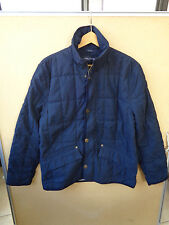 Nautica Men's Quilted Full Zip Jacket Navy Blue Size S Small