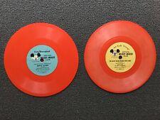 "2 Vintage Walt Disney's Mickey Mouse Club 6"" Records"