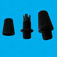25x Black M10 Thread Cable Wire Cord Grip Pendant Light Sockets, Lamp Fitting