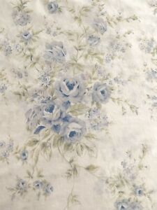 Simply Shabby Chic British Rose Twin Duvet Cover Cotton Ruffle Eyelet Trim Blue