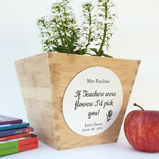 Personalised Teachers Gift Wooden Planter Box