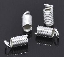200 Embouts serre-fil Ressort pr Collier/Bracelet 9x4mm