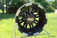 "MOTO METAL BLACK MACHINED 963  DUALLY 17"" X 6  DODGE GMC CHEVY 8 on 6.5 bp LUGS"