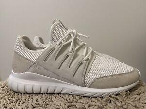 Adidas Tubular Radial, S76720, White, Mens Running Shoes, Size 13