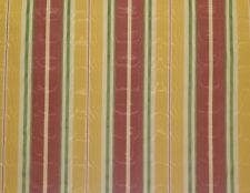 "MOIRE STRIPE YELLOW MAUVE GREEN SHIMMER DESIGNER FABRIC BY THE YARD 55""W"