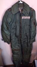 Vintage Usaf Cwu-1/P Flight Suit - 1958 - Size Med-Long - Black & Gold Label