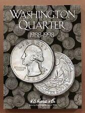Washington Quarter 1988-1998 - Quarter Folder Album Collecting - H.E. Harris Co.