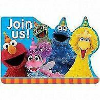 Sesame Street Invitations X 8 Birthday Invites Party Supplies