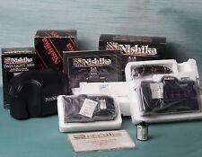 Nishika N8000 3-D camera KIT. Incl camera, case, flash, manuals, film. MINT!