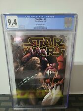 CGC 9.4 STAR WARS 1 MARVEL 3/15 WHITE PAGES DALE KEOWN COVER AOD EDITION