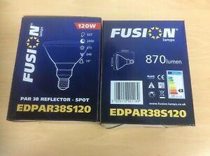 2 x PAR 38 120W 240V E27 ES SPOT REFLECTOR Light Bulb Lamp Dimmable