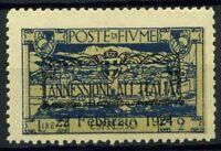 Fiume 1924 Sass. E12 zpd Nuovo ** 100% annessione all'Italia