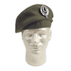 Khaki Military-Style Balmoral/Tam