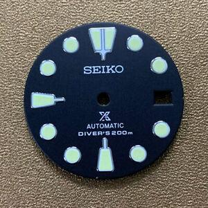 Watch Dial Green Luminous Dial W/ Calendar for NH35/NH36 Watch Movement Part