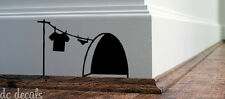 Mouse Hole Wall Art Sticker Washing Vinyl Decal Mice Home Skirting Board Funny