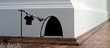 Mouse Foro Muro ARTE Adesivo Lavaggio Vinile Decalcomania TOPI HOME elude BOARD BUFFO